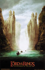 The Lord of the Rings Two Statues Poster