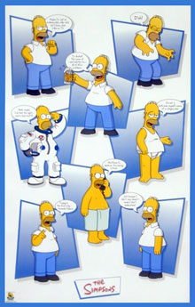 The Simpsons Homer Quotes Poster