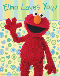 Elmo Loves You Poster