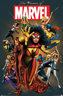 Marvel comics Women of Marvel poster - click to zoom in