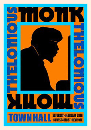 Thelonious Monk 1959 Concert Poster