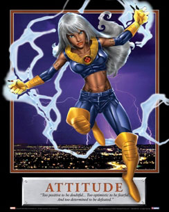 Attitude Storm Motivational Poster