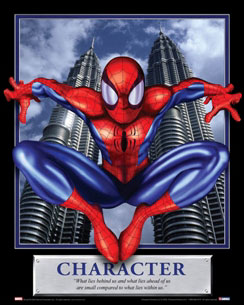 Spiderman Character Motivational Poster