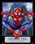 Character Spiderman Motivational Poster