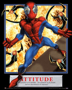 Attitude Spiderman Motivational Poster