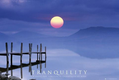 Tranquility Motivational Poster