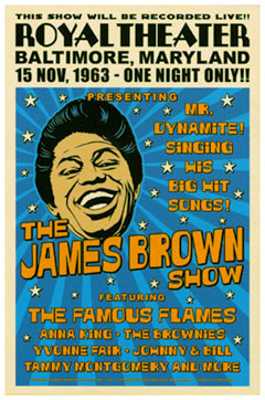 James Brown Concert Poster 1963