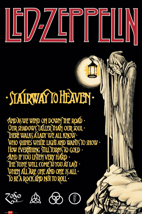 Led Zeppelin Stairway to Heaven Poster Click here to zoom in.