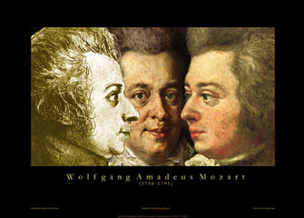 Mozart Triptych Poster