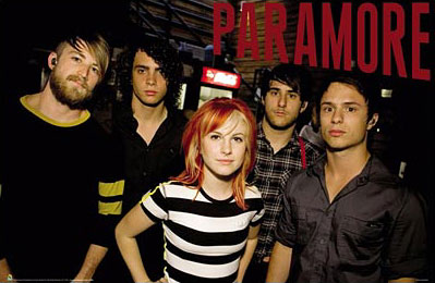 Paramore poster - click Add to Cart to Order