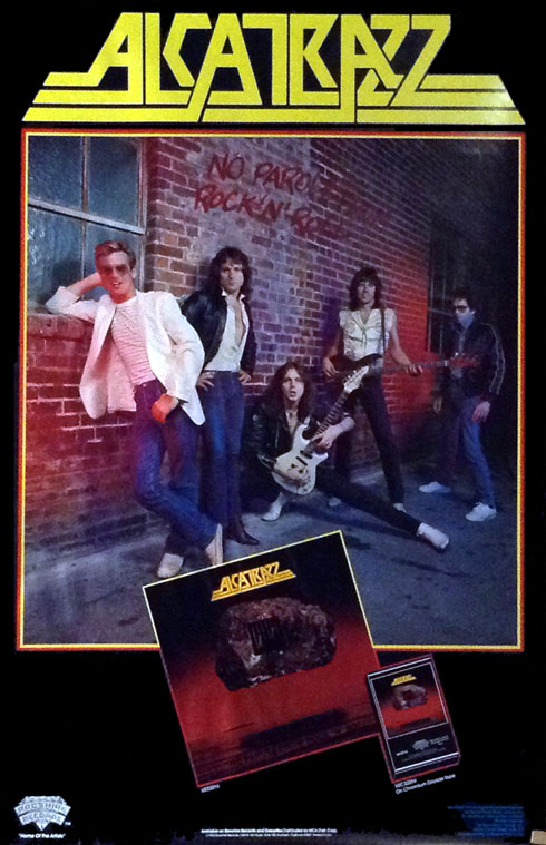 Alcatrazz No Parole From Rock N Roll Poster