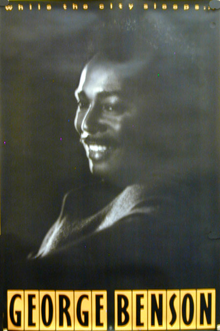 George Benson While The City Sleeps 1986 poster