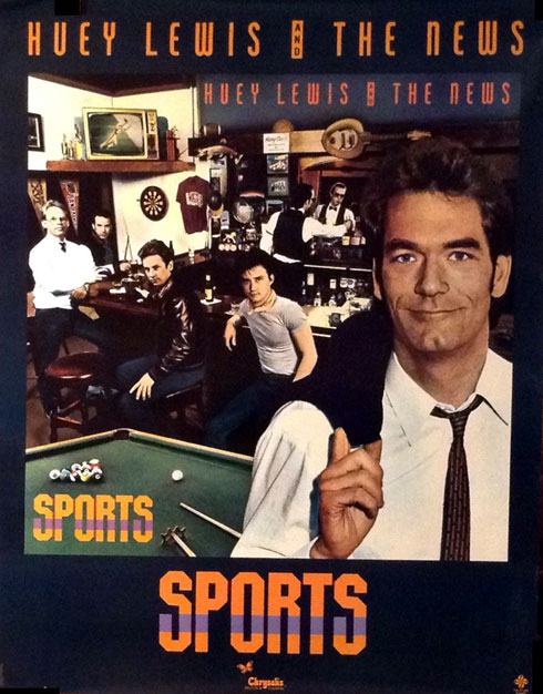 Huey Lewis and the News 1983 Poster