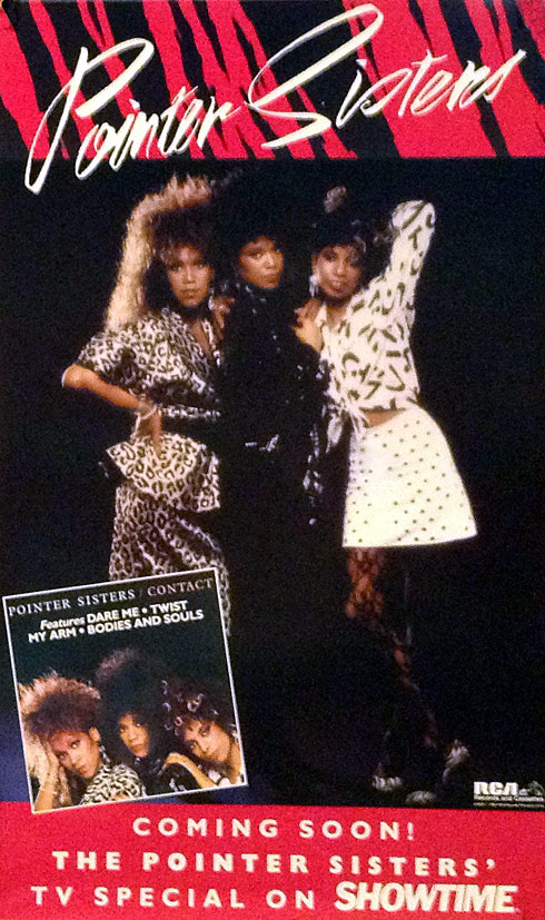 Pointer Sisters Poster 1985