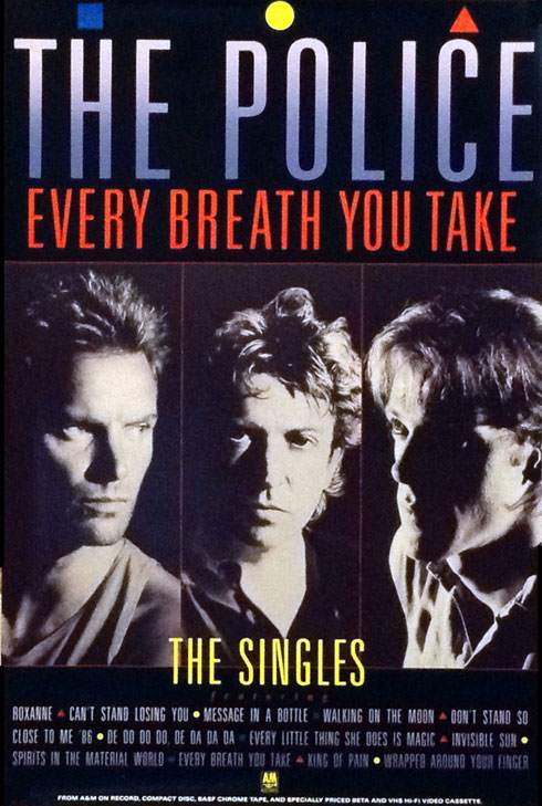 The Police Every Breath You Take Poster
