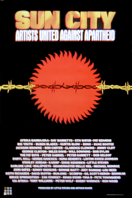 Sun City Artists Against Apartheid Poster