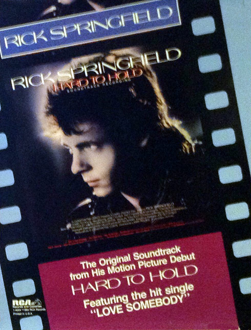 Rick Springfield Hard to Hold Poster