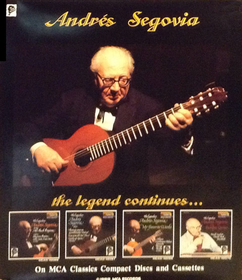 Andres Segovia Poster