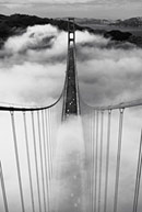Golden Gate Bridge Misty Morning Poster